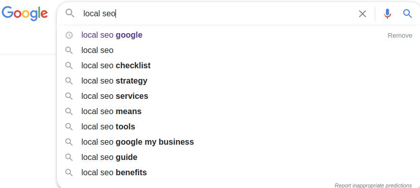 google keywords search